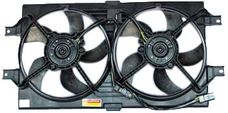 (TYC 620190 Chrysler/Dodge Replacement Radiator/Condenser Cooling Fan Assembly)