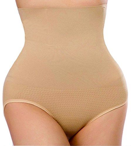 - Hioffer 328 Women Waist Cincher Girdle Tummy Slimmer Sexy Thong Panty Shapewear,Nude, Medium/Large