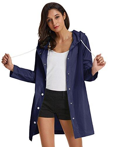 GRACE KARIN Womens Candy Casual Jackets Softshell Outdoor Raincoat XL Navy - Shell Soft Rain Ladies Jackets