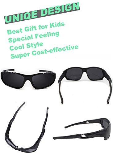 ee295e48de VATTER TR90 Unbreakable Polarized Sport Sunglasses For Kids Boys Girls Youth  816blackblack