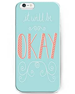 UKASE Elegent Cases with Beautiful Life Quotes for iPhone 6 (4.7 inch) - It Will Be Ok