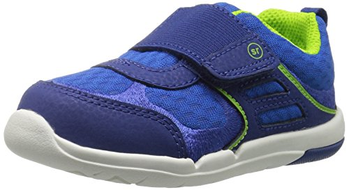 Image of Stride Rite Boys' SRTech Casey Sneaker, Royal, 5 Wide US Toddler