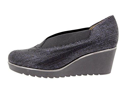 Calzado mujer confort de piel Piesanto 9779 zapato salón casual cómodo ancho Marino