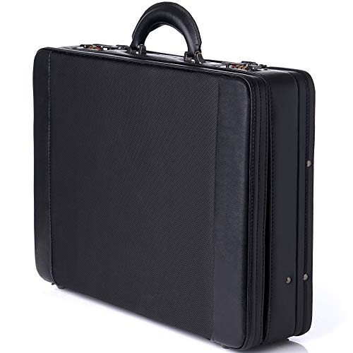 Alpine Swiss Expandable Attache Case Dual Combination Lock Hard Side Briefcase Black