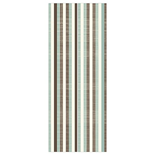 Wallpaper Cream Texture (3d Door Wall Mural Wallpaper Stickers [ Retro,Classical Vertical Stripes Fabric Texture Image Old Fashioned Display Decorative,Brown Almond Green Cream ] Mural Door Wall Stickers Wallpaper Mural DIY H)