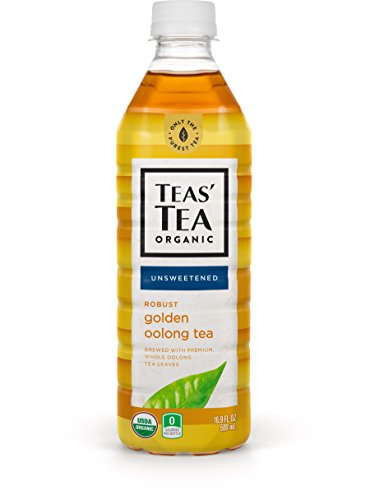 Teas' Tea Unsweetened Golden Oolong Tea, 16.9 Ounce (Pack of 12), Organic, Zero Calories, No Sugars, No Artificial Sweeteners, Antioxidant Rich, High in Vitamin (Oolong Tea Drinks)