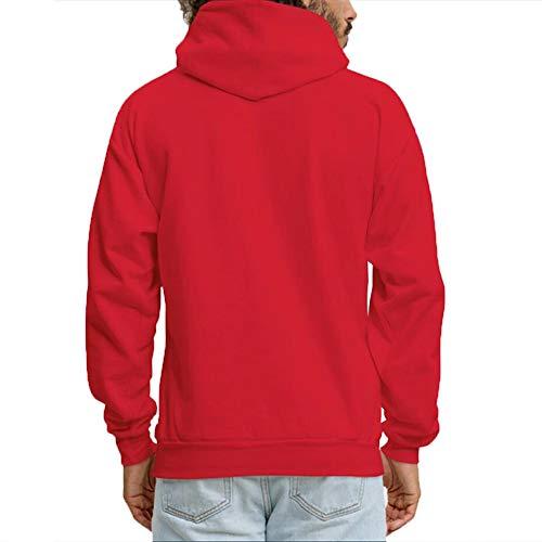 Women's Pullover Sweatshirt Graphic Do Xijia Rosso Hoodies i Shop Yes Felpa Con Cappuccio 5qxOO8ft0