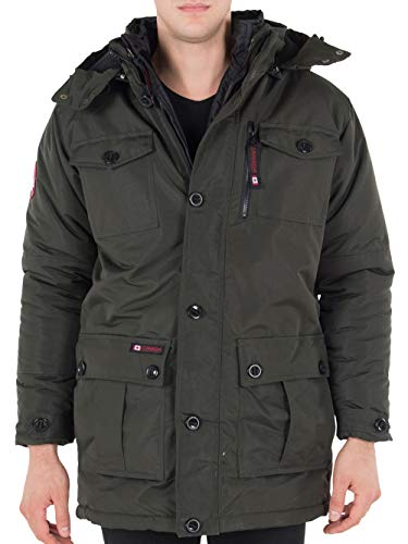 CANADA WEATHER GEAR Men's Insulated Parka - Olive, l