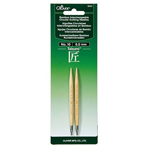 Aguja Circular Intercambiable Clover Takumi Bamboo  - 10