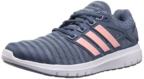 adidas Women's Energy Cloud V Running Shoe, raw Grey/Clear Orange/tech Ink, 8 M US