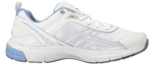 Ryka Women's Phoenix Running Shoe, White/Silver, 8.5 M US