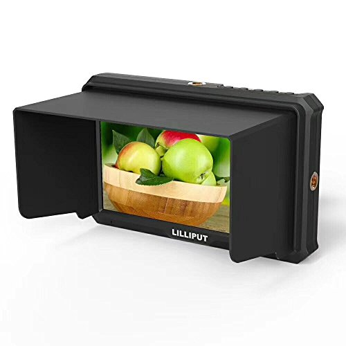 """LILLIPUT 5"""" A5 1920x1080 IPS Camera Field Monitor 4K HDMI Input Output Video for DSLR Mirrorless Camera DJI Ronin OSMO Handheld Sony A7S II A6500 Panasonic GH5 Canon 5D Mark IV 4K Camera Camcorder"""
