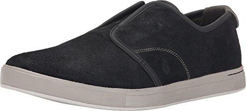 Ahnu Men's North Beach Leather Slip On Sneaker, New Black, 9.5 M - North Leather Beach