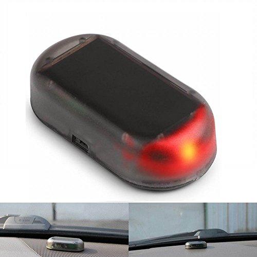 Flash Warning System - SHANG MEDING Solar Car Power Dummy Anti-Theft Alarm LED Light Simulate Imitation Security System Warning Theft Flash Blinking Lamp
