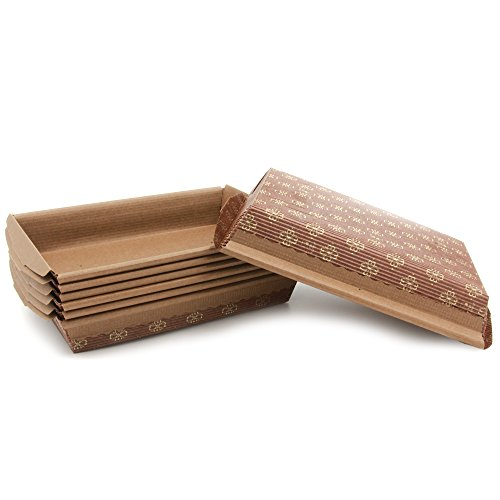 Paper Baking Pan Good For Anything You Wish To Bake In A Rectanglar Pans , Carrot Cake, Brownies 516836 L6-1/2''x w4-1/4''x 1-1/4''H (540) by Ecobake