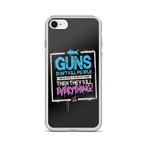 iPhone 7 Case iPhone 8 Case Clear Anti-Scratch Guns Don't Kill People, Jinx Cover Phone Cases for iPhone 7/iPhone 8, Crystal Clear]()