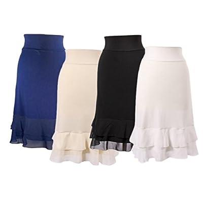 Peekaboo-Chic Iris Chiffon Half Slip Skirt Extender