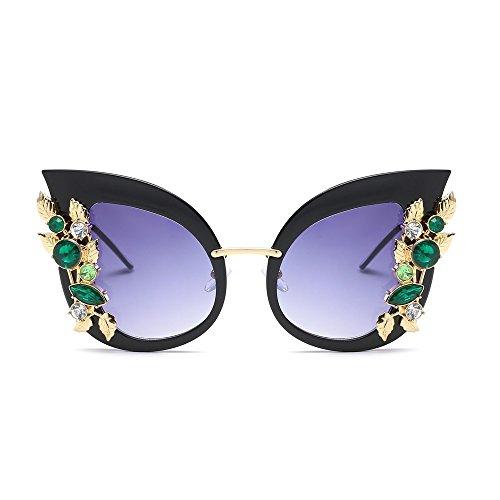 Gafas Mujeres Gris De Gafas black Ojo Gato Uv400 Gato TIANLIANG04 Negro De De Sol Ojo xzOw1a