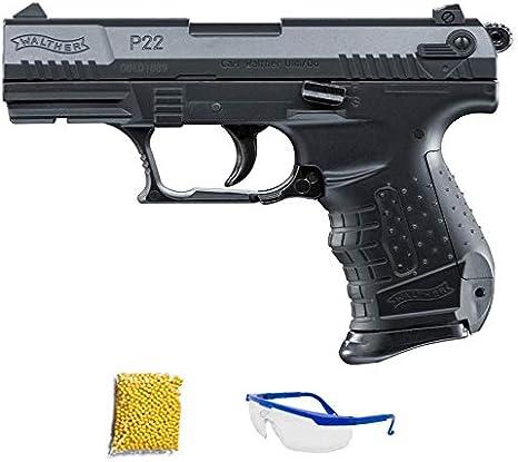 ASM WALTHER P22. Pistola de Airsoft Calibre 6mm (Arma Aire Suave de Bolas de plástico o PVC). Sistema: Muelle. <3,5J