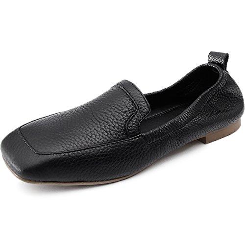 Mujer Zapatos Plano Solo Zapatos Cabeza Negra De Embarazada GAOLIM Barco Calzado Zapatos De De Mujer Primavera Negro Mujer Zapatos Zapatos La CXwqp7