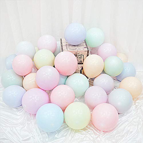 40PCS Latex Balloons 10inch Macaron Color Wedding Decoration Birthday Party (Colorful)