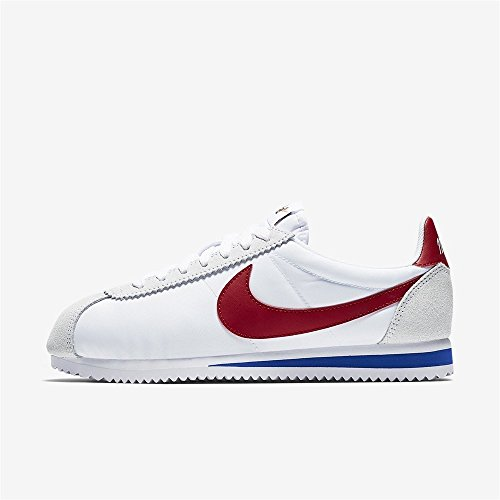 Nike Womens Classic Cortez Nylon Premium Sneakers Shoes White Red (Large Image)
