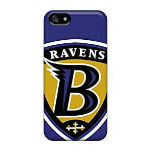 Shock Absorbent Hard Phone Cover For Iphone 5/5s (qfL10111jOnI) Support Personal Customs Stylish Baltimore Ravens Pictures