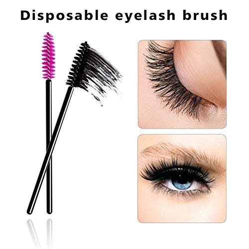 ENVII - The Beauty Brand 300PK Black/Pink Disposable Eyelash Mascara Wands Brushes Applicators Makeup Artists Kits ()