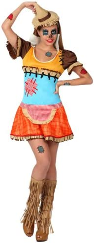 Atosa- Disfraz mujer espantapájaros, XS-S (16459): Amazon.es ...