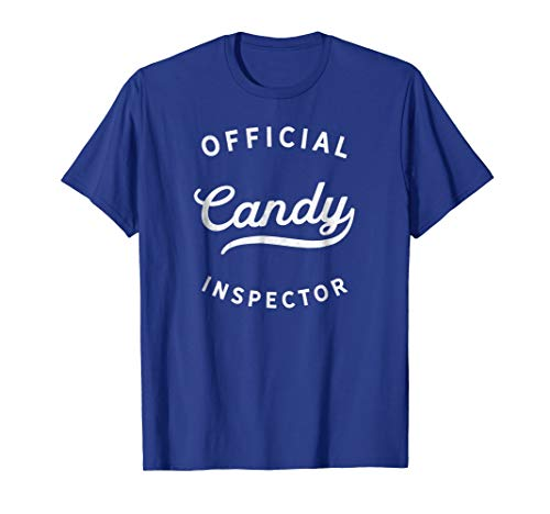 Funny Halloween Retro Vintage Candy Inspector T-Shirt -