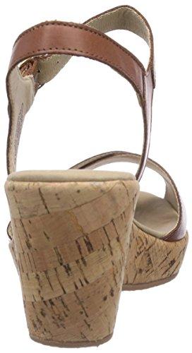 Caprice 28352 - Sandalias de vestir de cuero para mujer marrón - Braun (NUT NAPPA/316)