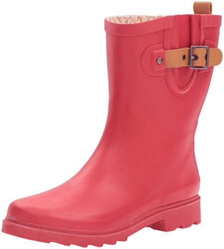Chooka Women's Mid-height Rain Boot, Red, 7 M US