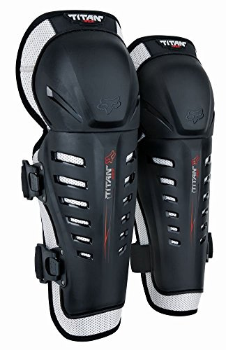 Fox Racing Titan Race Adult Knee/Shin Guard Off-Road Motorcycle Body Armor - Black/One Size