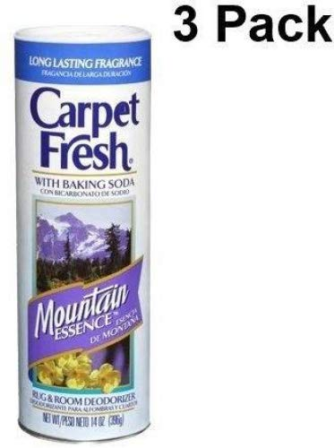 Carpet Fresh, Rug and Room Deodorizer with Baking Soda Mountain Essence Fragrance 14 oz (3 Pack)