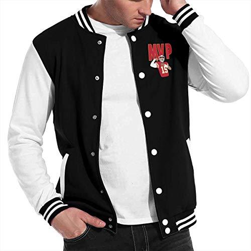 - Basketballsadw Men Kansas-City-Mahomes-MVP Baseball Uniform Jacket Black