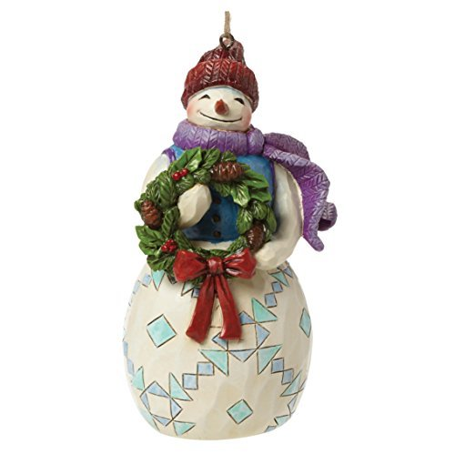 Heartwood Creek Snowman with Wreath Hanging Ornament by Heartwood Creek