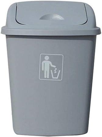 OOMMJU Cubo de Basura al Aire Libre - Residuos oscilación Tapa, PP, for el Dormitorio Baño, Cocina, Jardín  Deposito de Basura (Color : Gray, Size : 40L): Amazon.es: Hogar