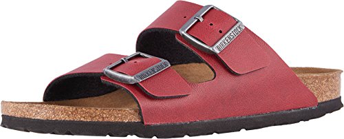 Birkenstock New Women's Arizona Vegan Sandal Pull Up Bordeaux 39 R Birkenstock Arizona Birko Flor Sandal