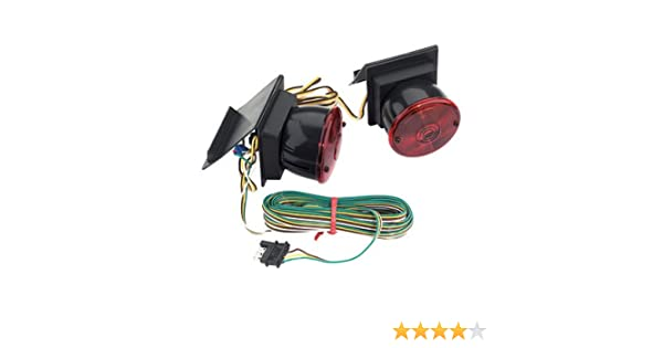 amazon com custer products ezt20b flap mount towing light automotive rh amazon com 7 Pin Tow Wiring Diagram 4 Pin Trailer Wiring Problems