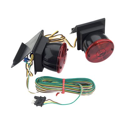 amazon com custer products ezt20b flap mount towing light automotive rh amazon com Jeep Tow Wiring Harness Wiring- Diagram