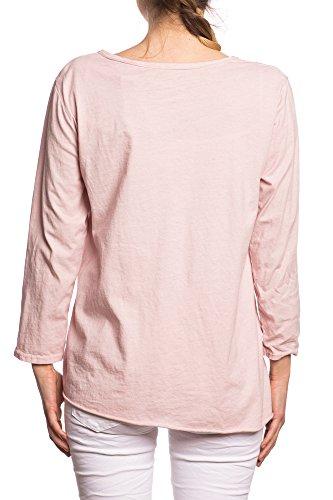 Abbino 7157-18 Camisas Tops para Mujeres - Hecho en ITALIA - 4 Colores - Entretiempo Primavera Verano Otoño Mujeres Femeninas Elegantes Formales Casual Vintage Fiesta Rebajas Dama - Talla única Rosa