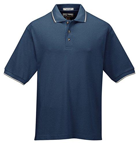 Tri Mountain Mens 60 40 Ultracool Mesh Golf Shirt  116   Navy   Khaki   White 2Xlt