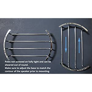 GS Power's Bar Grille for 12 inch Subwoofer and Speaker. Choices of Matt Black or Chrome Finish (1 pc)