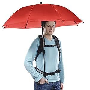 Walimex Pro Swing - Paraguas con soporte manos libres, color rojo