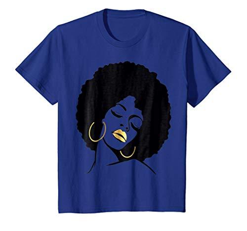 Afro Diva Black Girl Magic Shirt Gold Lips Natural Melanin