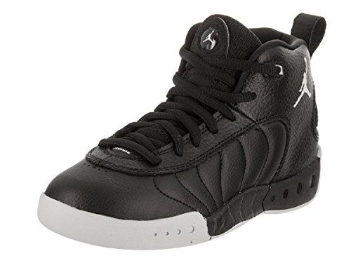 Jordan Nike Kids Jumpman Pro BP Black/White/Wolf/Grey Basketball Shoe 1 Kids US