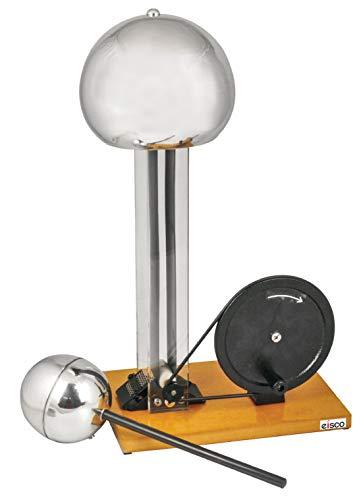 Hand Crank Van De Graaf Generator, up to 100kV, 7.5' Dome, 4' Discharge Sphere, 22' Tall