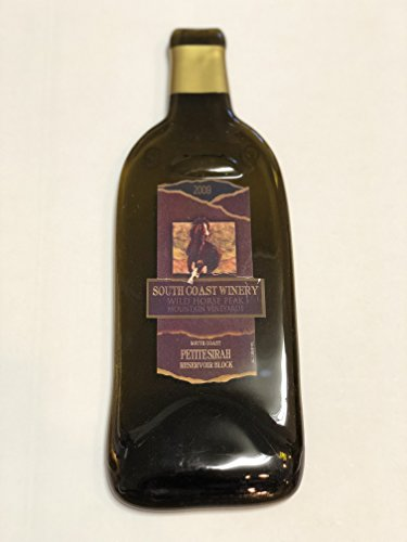South Coast Winery Wild Horse Peak Mountain Vineyards Petite Sirah, South Coast, USA Melted Wine Bottle Cheese Serving Tray - Wine Gifts ()