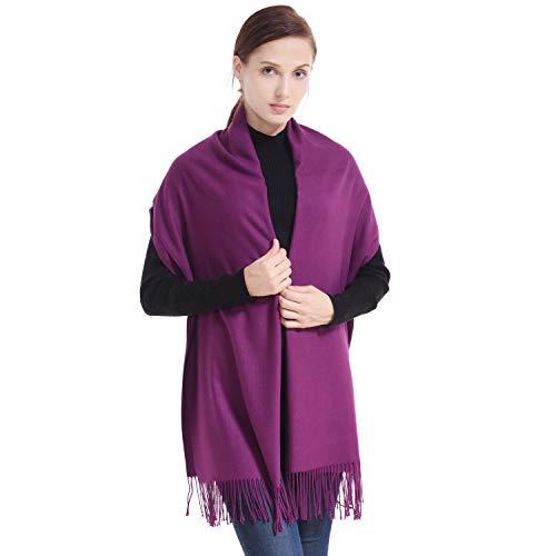 LERDU Ladies Gift Idea Cashmere Pashmina Scarf Fashion