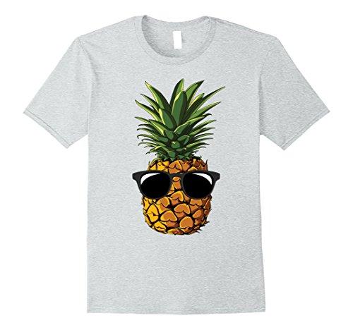 Mens Pineapple Sunglasses Aloha Beaches Hawaii - Hawaiian T-shirt Large Heather - Sunglasses Friday Aloha